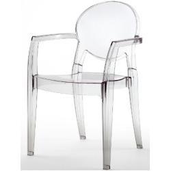 Designstuhl Igloo Transparent Kunststoff Wetterfest Stapelbar Hochwertige Verarbeitung Mit Armlehnen Transparente Stuhle Stuhle Moderne Stuhle