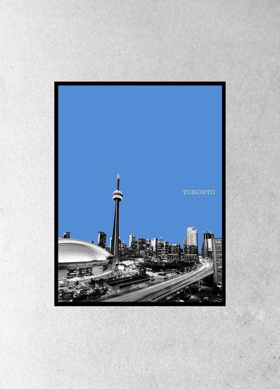 Toronto Poster Toronto print art travel Toronto design home decor