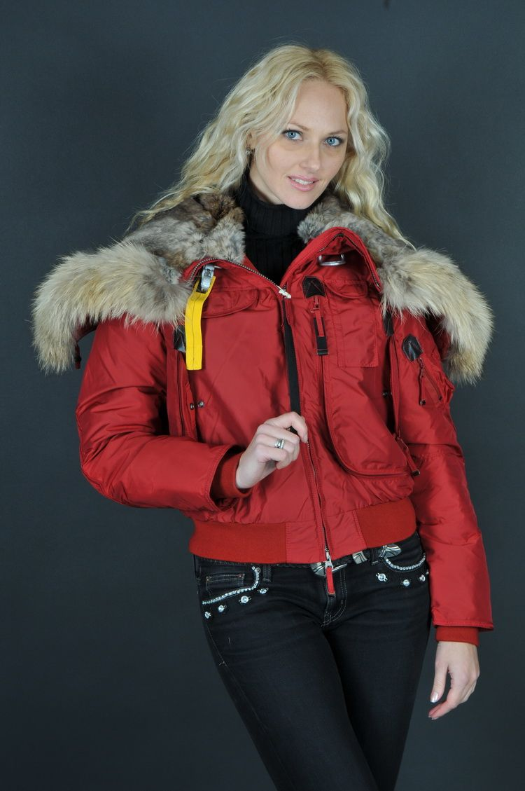 #Parajumpers Women's Gobi Down Bomber Jacket in Red