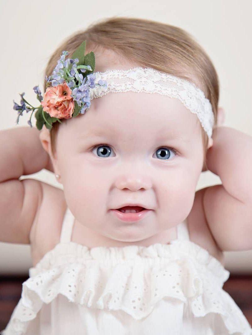 Peach Headband Peach Newborn Headband Peach Flower Headband Newborn Flower Headband Easter Headband Baby Girl Photo Prop Newborn Photo Prop