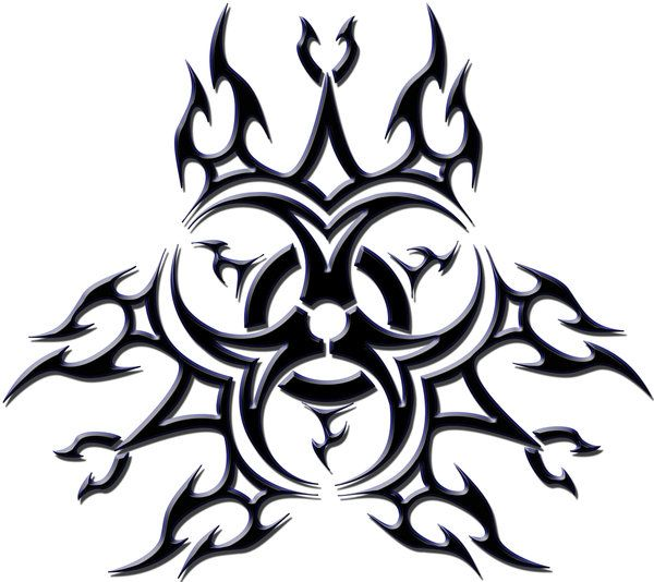 Biohazard tribal tattoo by blakewise on deviantart tatoo for Tribal biohazard tattoo designs