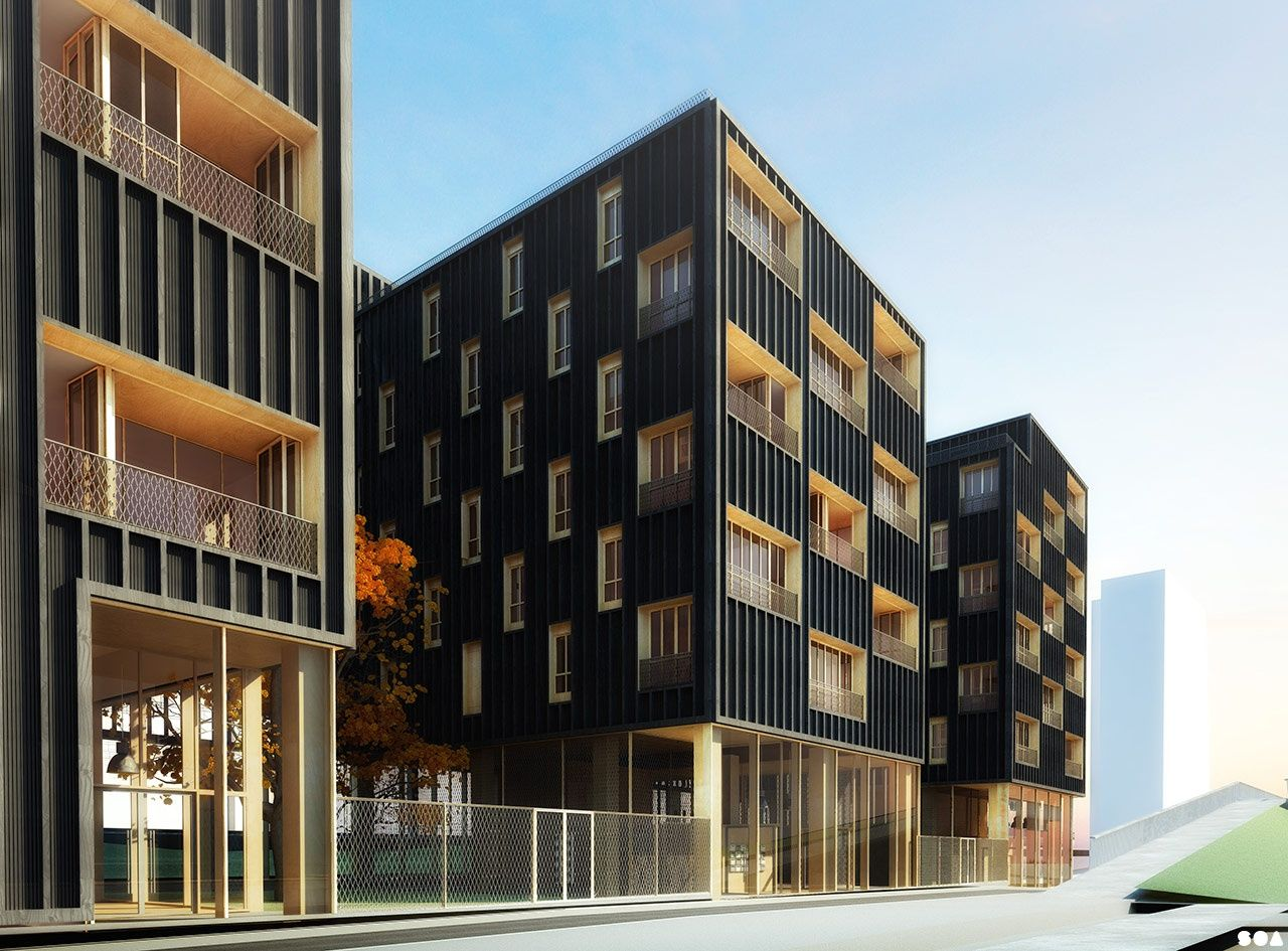 Soa architectes paris projets logements gergovie for Hotel contemporain paris