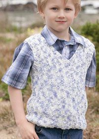 Free Aran Knitting Patterns For Boys : Free Patons knitting pattern: boys tank top in Patons Cotton Twist Aran Kni...