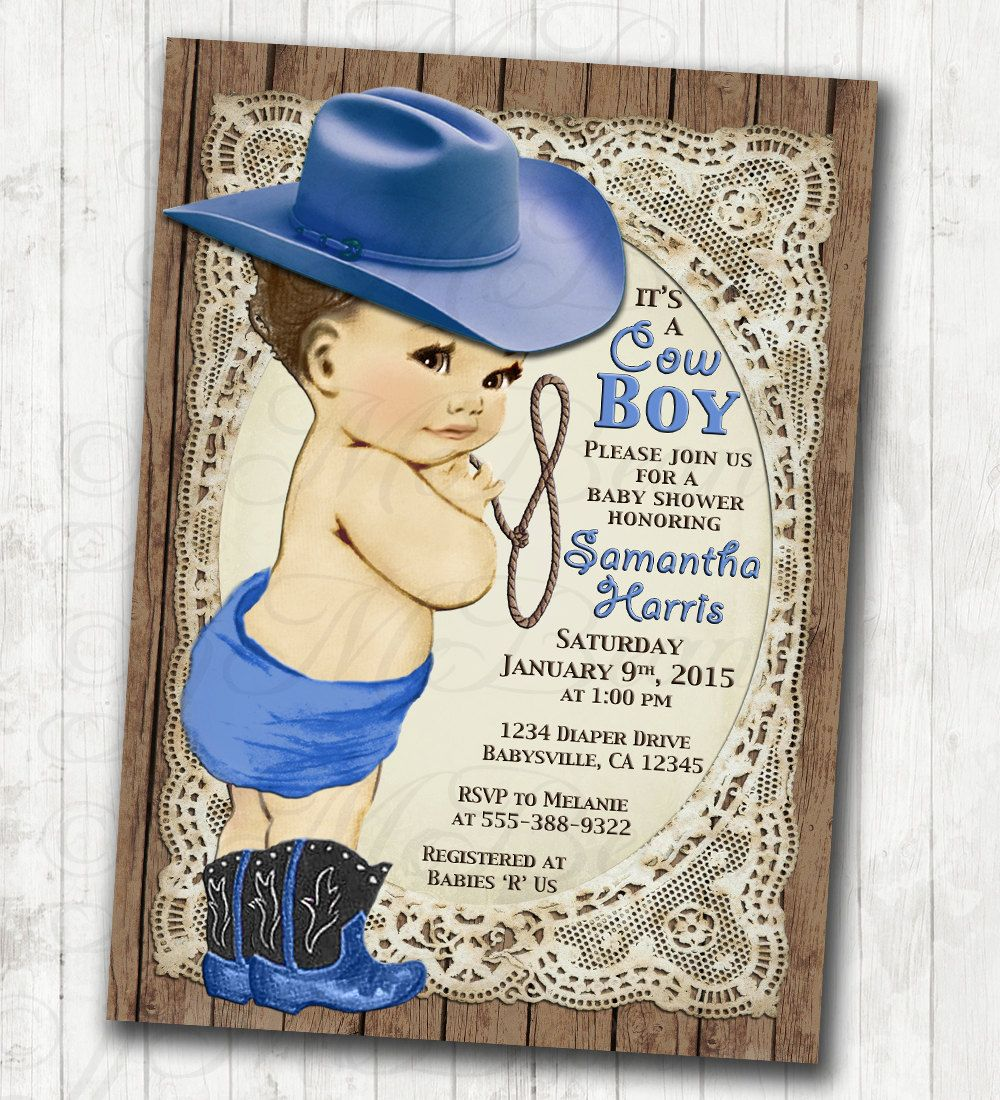 cowboy diy printable invitations baby showers baby showers and