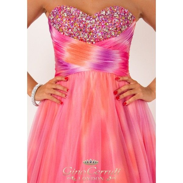 Gino Cerruti Style 1047N Rainbow Prom and Ball Gown ($63) via ...