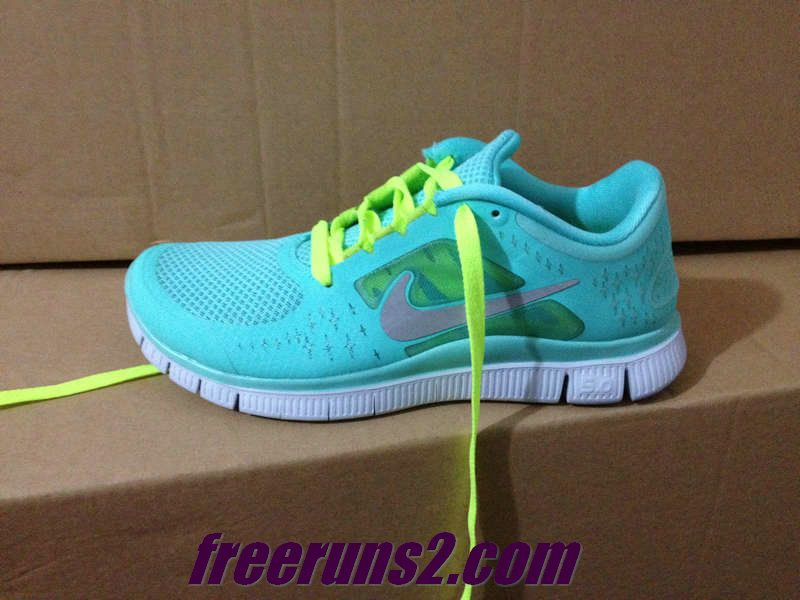 3fdbdbb09990 Nike Free Run 3 Womens Tropical Twist Reflect Silver Pure Platinum Volt  Lace Shoes