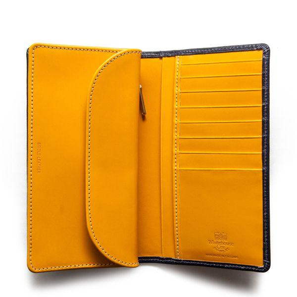 ホワイトハウスコックス | S8819 LONG WALLET / REGENT BRIDLE(NAVY/YELLOW)