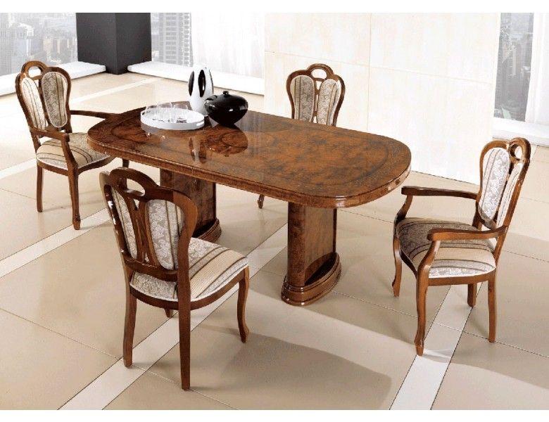 Pamela Classic Italian Table Set Italian Dining Room Oval Table