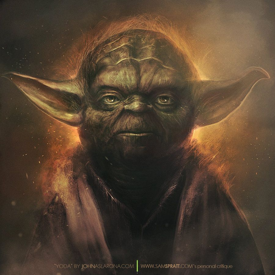 Awesome Yoda Portrait With Images Star Wars Art Yoda Art