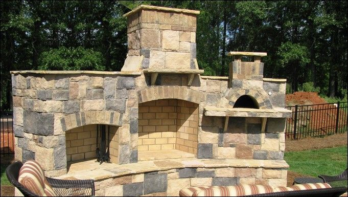Building Outdoor Fireplace With Pizza Oven Kitchen Home Outdoor Fireplace Pizza Oven Pizza Oven Outdoor Outdoor Wood Burning Fireplace