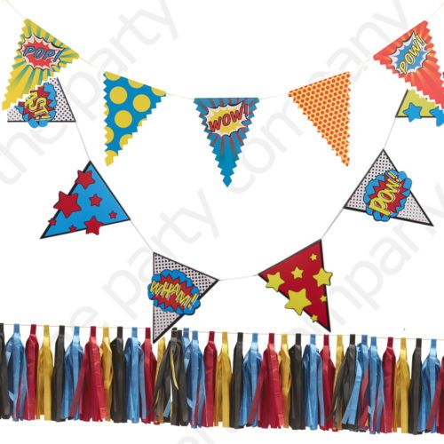 Ginger-Ray-Superhero-Boys-Birthday-Party-Stylish-Bunting-Banners-Decorations