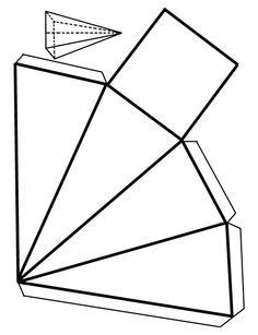 Piramide Cuadrangular Kfjfj Figuras Geometricas Para Armar