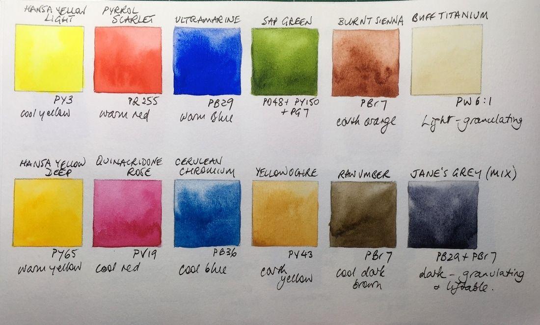 Jane Blundell Watercolor Artists Building A 12 Color Palette