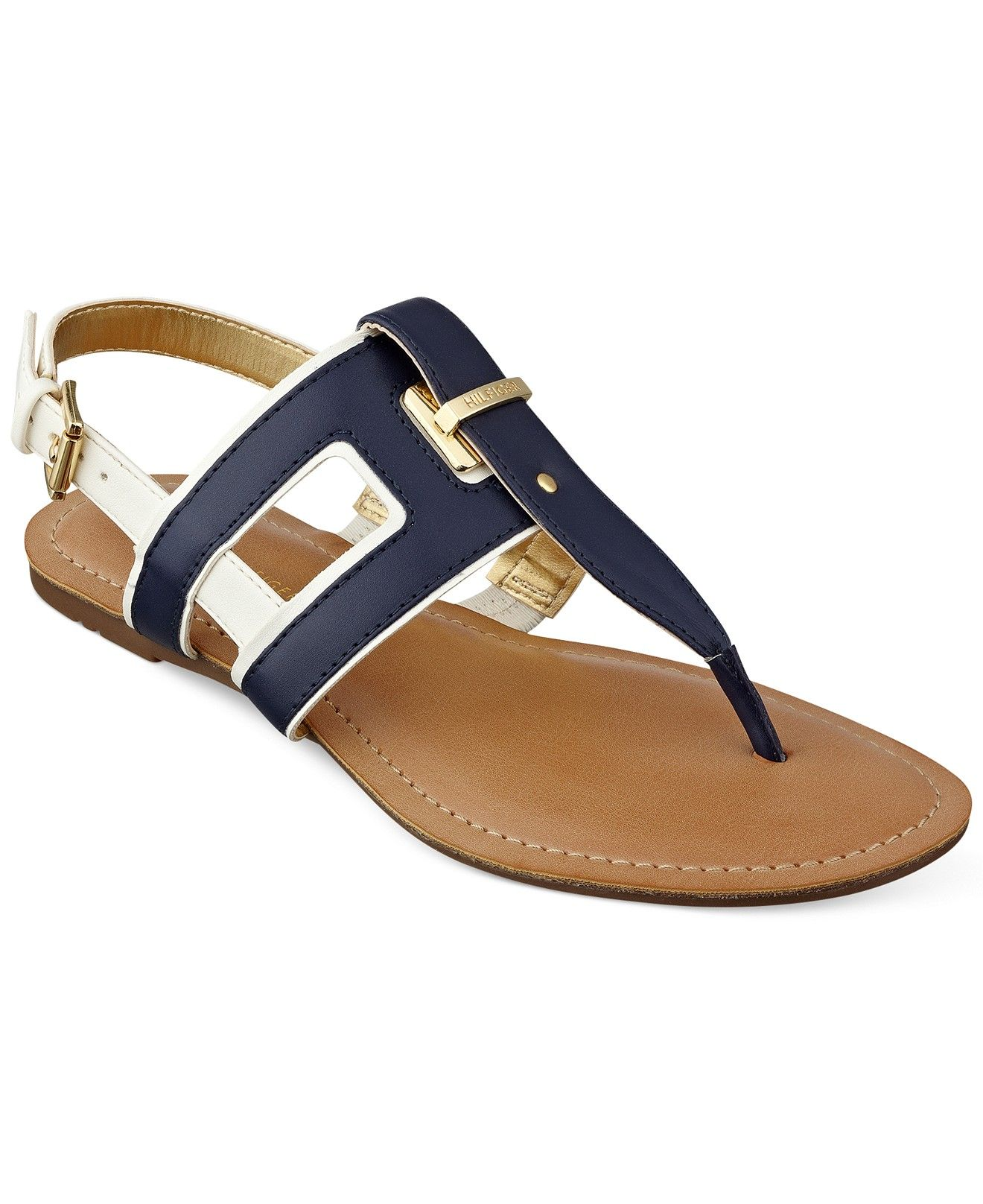 27b782c83 Tommy Hilfiger Women s Lynnie Flat Thong Sandals - Sandals - Shoes - Macy s