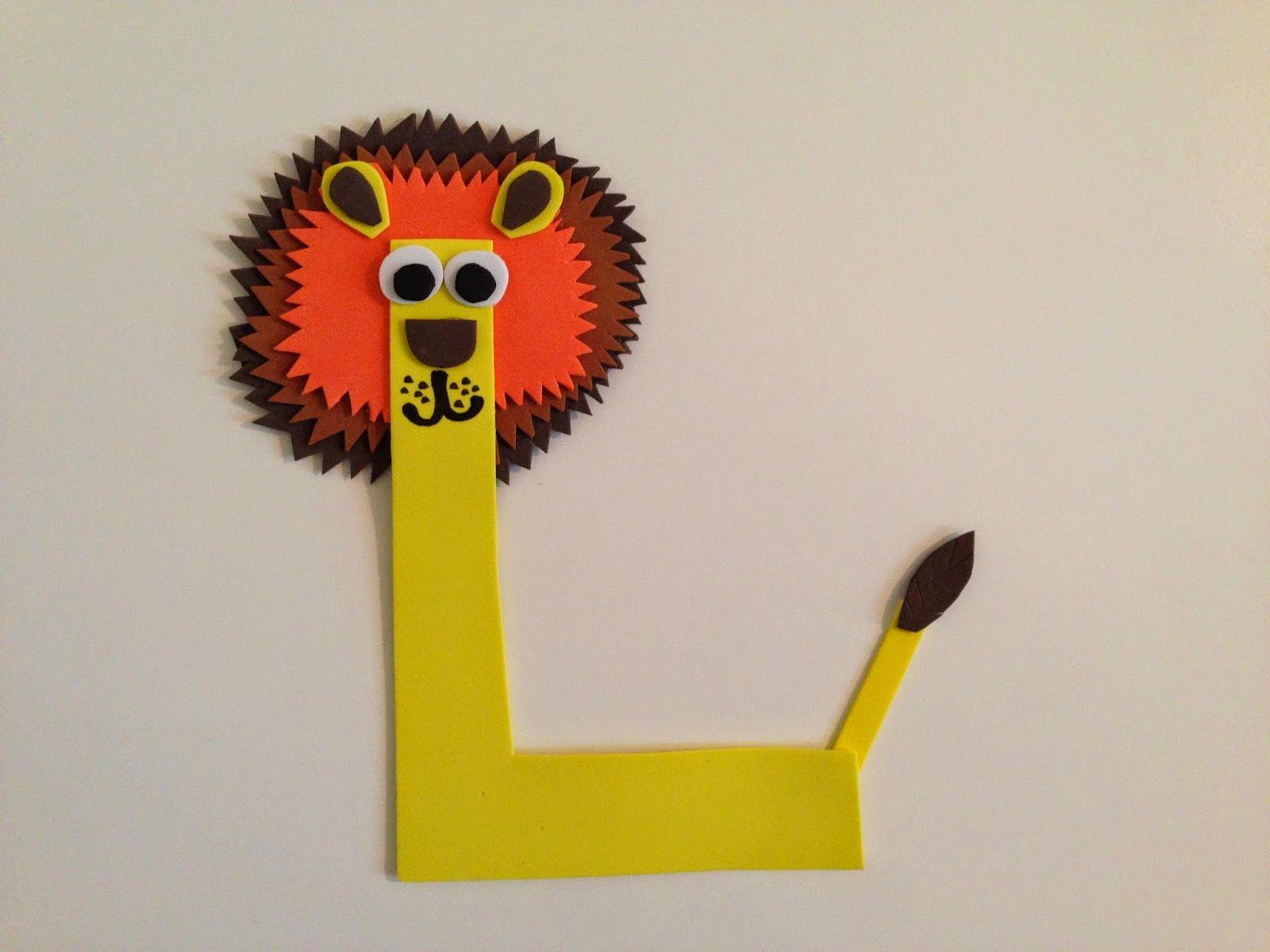 Pin It, Make It Animal Alphabet Letter L Lion Animal