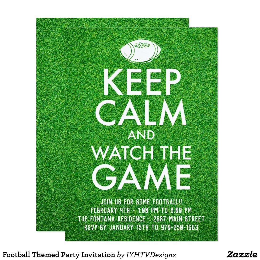 Football Themed Party Invitation | Football themed parties, Themed ...