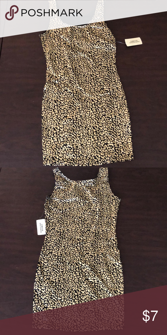 Forever 21 Black And Gold Dress Forever 21 Black And Gold Dress Size