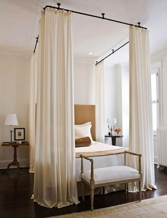 Beau Canopy Bed..easy Way To Do This Yourself..buy Large Hooks To