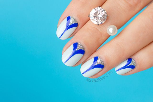 Elegant Nails With Double Spike Detail Tutorial Nail Art