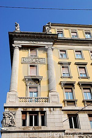 Photo made at a historic building in Trieste in Friuli