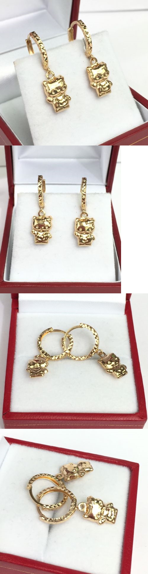 Precious Metal without Stones 164319: 18K Solid Yellow Gold Hello ...