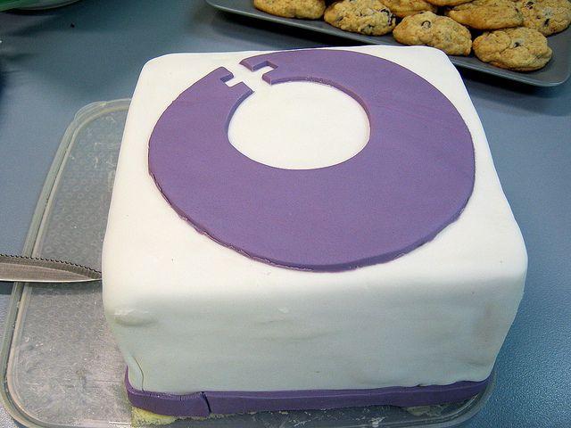 IWD Cake with logo