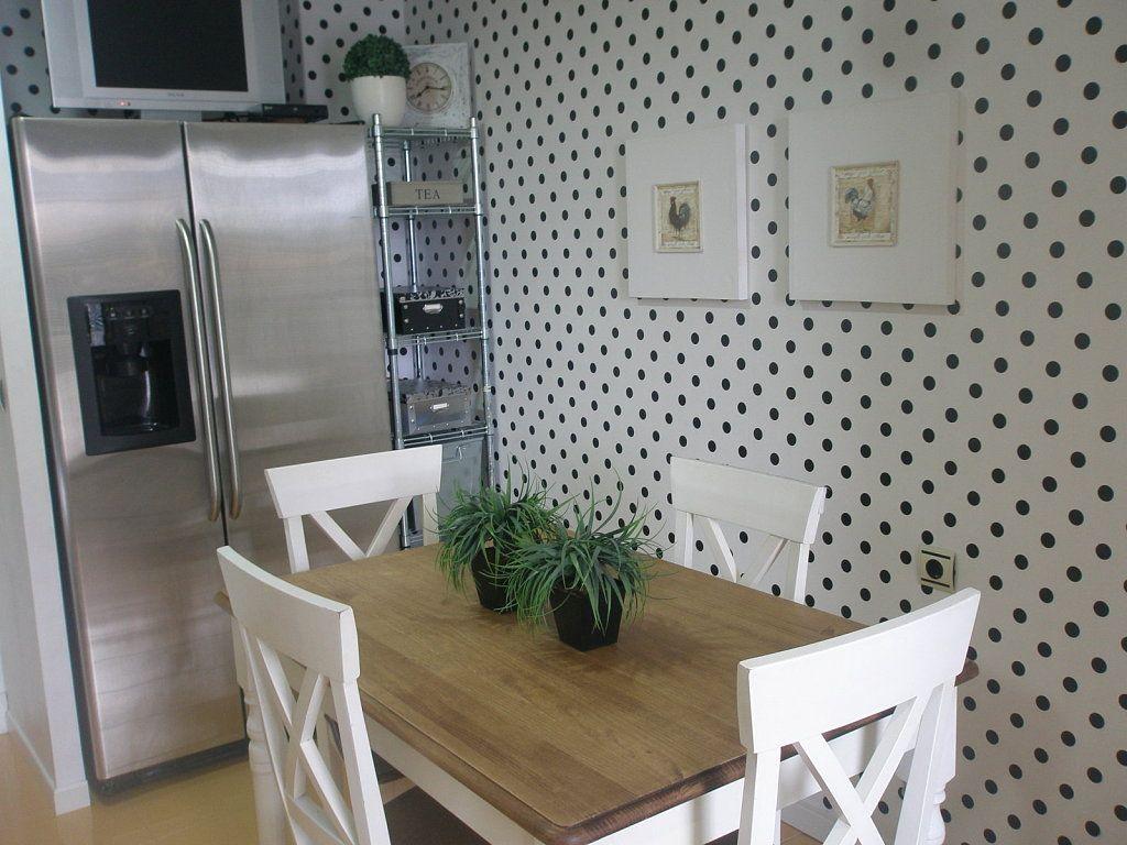 Cocinas con papel pintado papel pintado pintar y papel - Cocinas decoradas en blanco ...