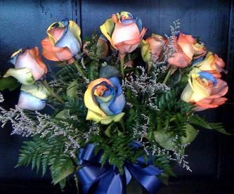 order rainbow roses from bouquets unique florist your local san angelo florist for fresh and fast flower delivery throughout san angelo tx area