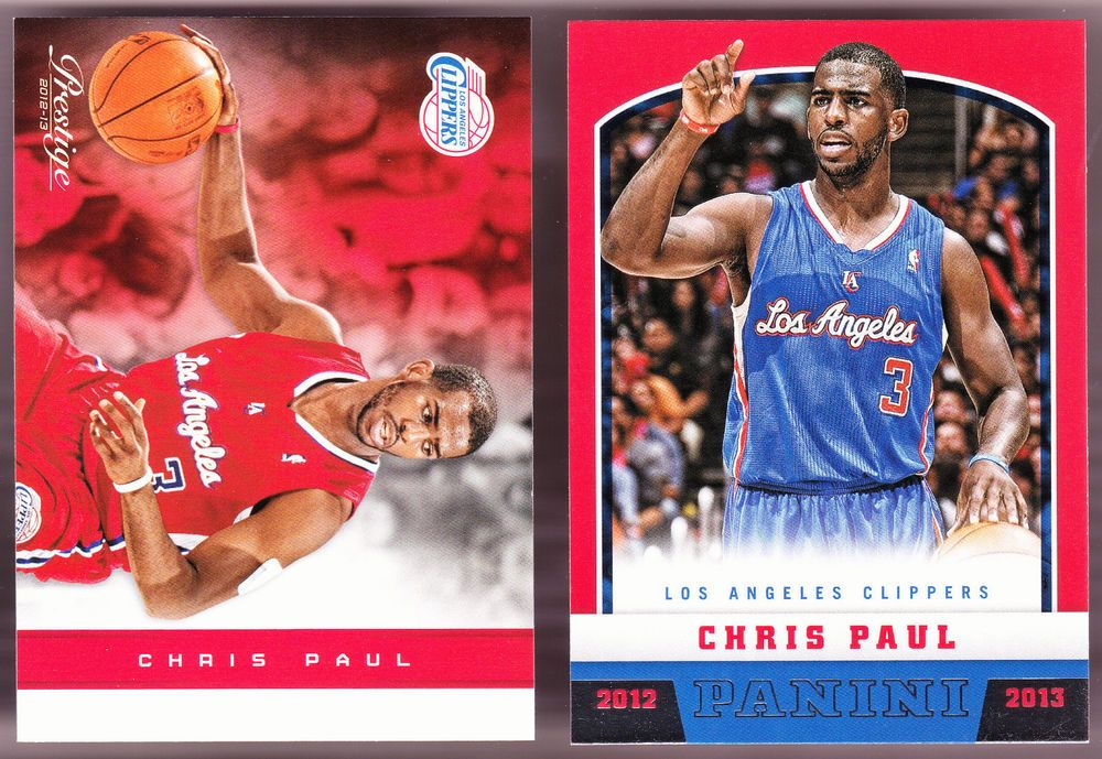 LOS ANGELES CLIPPERS LOT OF 2 DIFFERENT 2012-13 CHRIS PAUL PRESTIGE AND PANINI #SanAntonioSpurs