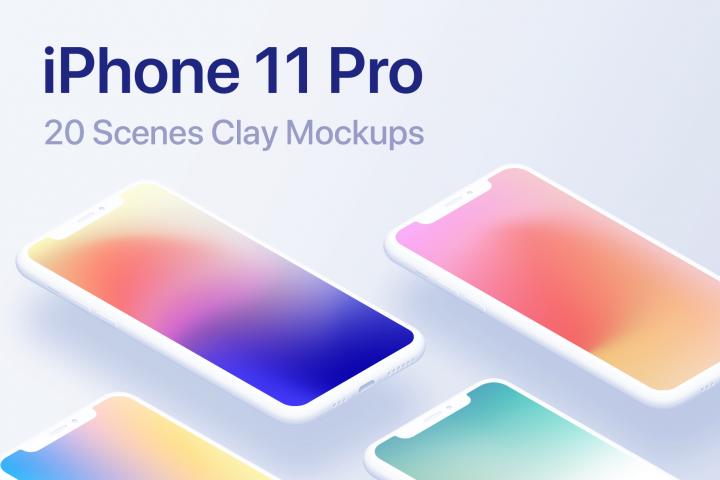 Download Iphone 11 Pro 20 Clay Mockups Scenes Psd 360608 Mock Ups Design Bundles In 2020 Iphone Mockup Mockup Iphone 11 PSD Mockup Templates