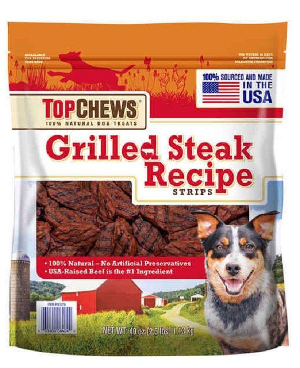 Top Chews  Natural Dog Treats Grilled Steak Recipe Strips