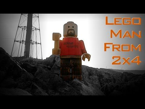 Giant Wood Lego Man (from a single 2x4) - YouTube   Projects