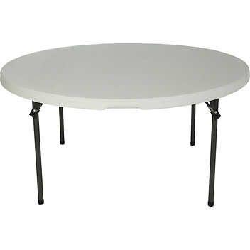 Costco 108 Lifetime Round Folding Table 60 Dia X 29 H Almond
