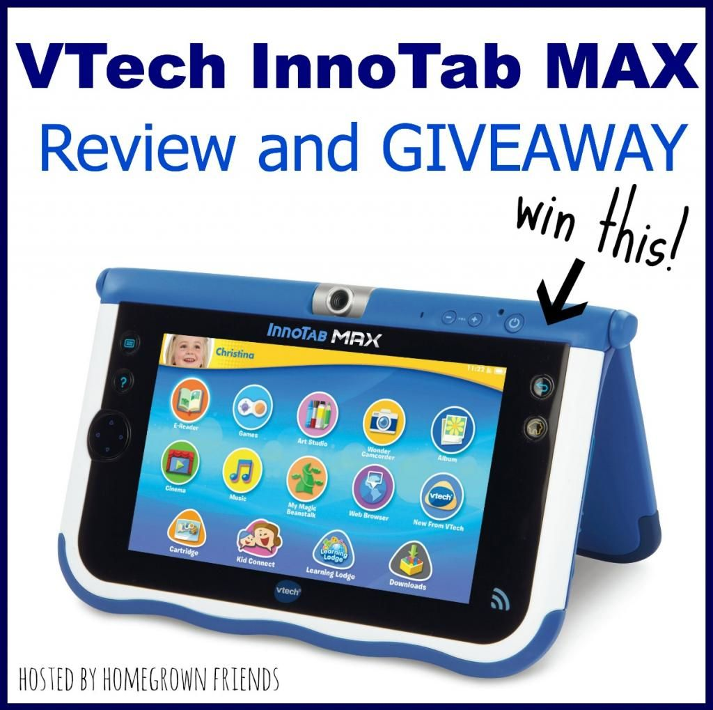 Vtech Innotab Max Review And Giveaway Kid Tablet Kids Giveaway Learning Tablet