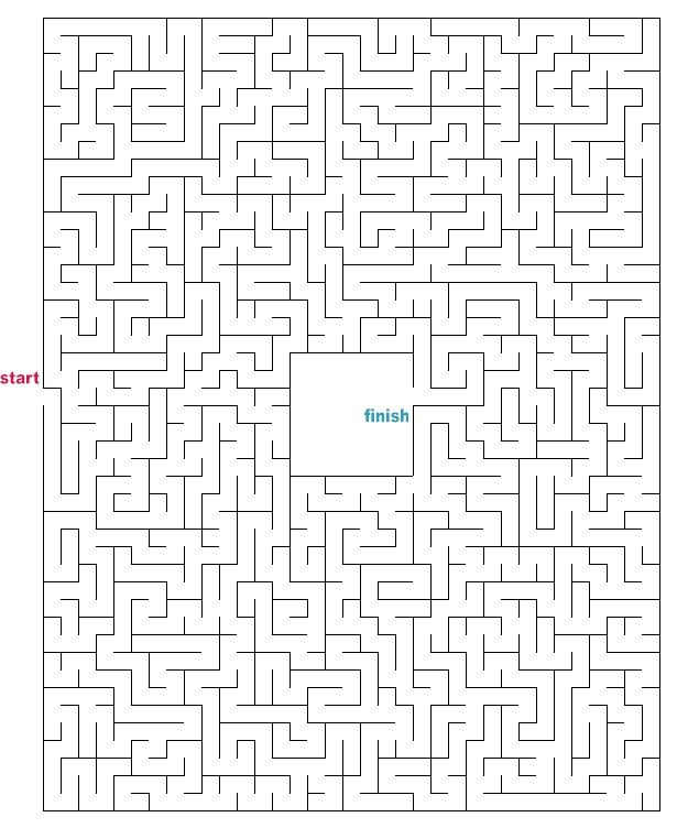 It is a photo of Printable Mazes Medium with regard to downloadable
