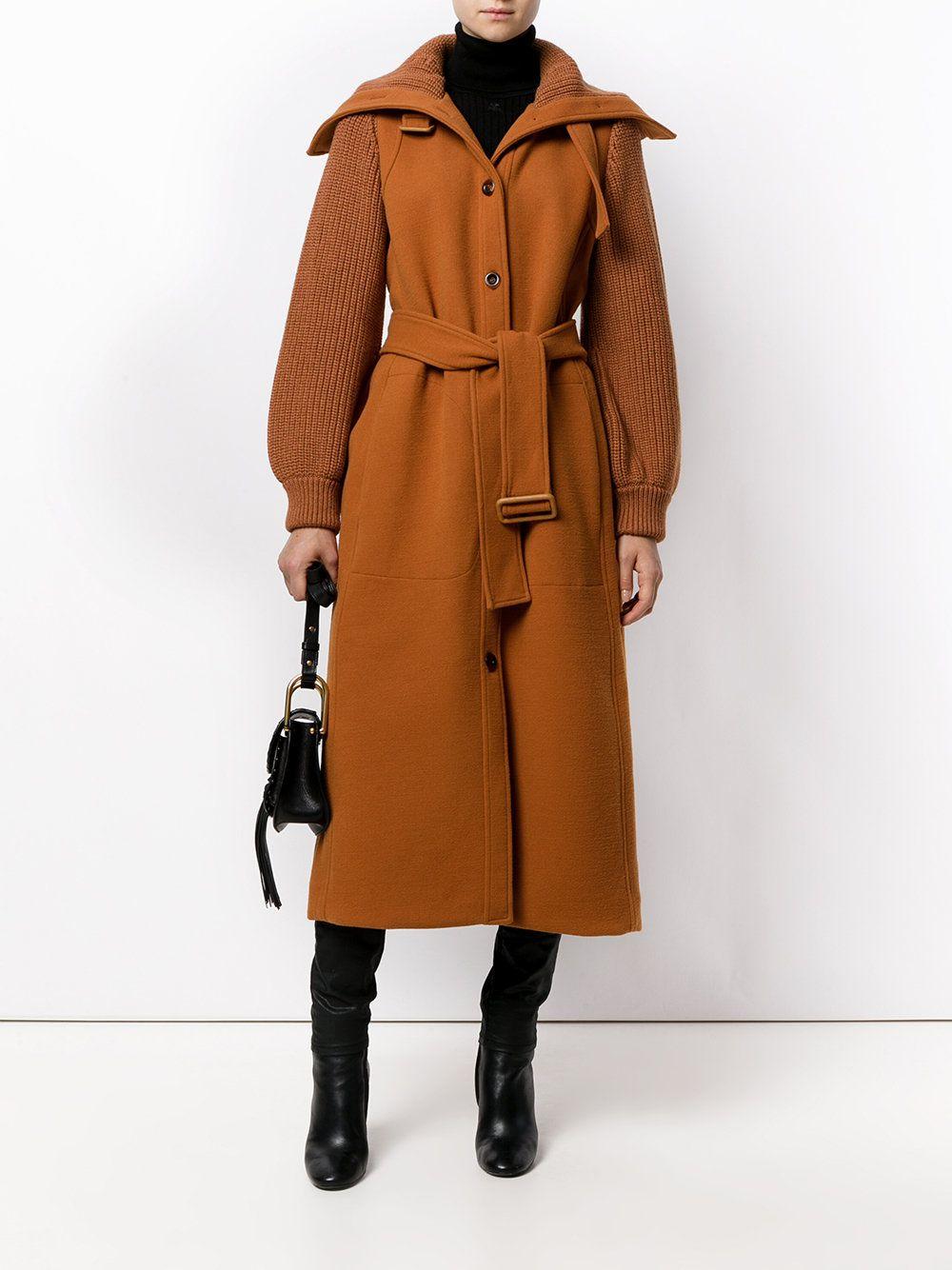Chloé пальто с высоким воротом, Chloé coat, пальто ...
