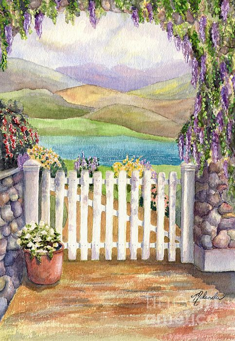 Beyond The Garden Gate By Malanda Warner In 2020 Beautiful Art