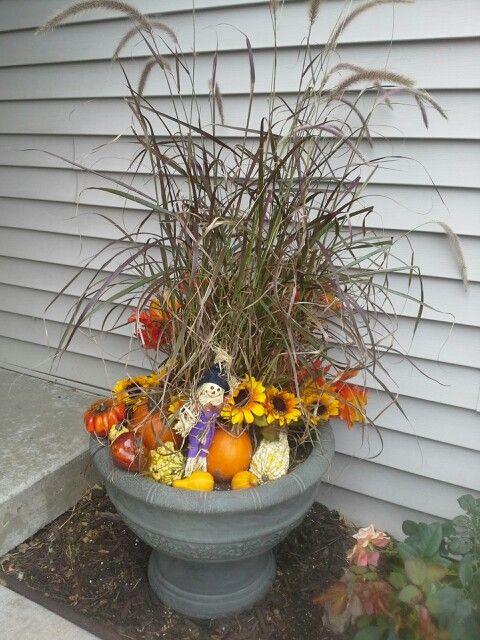 Fall flower vase