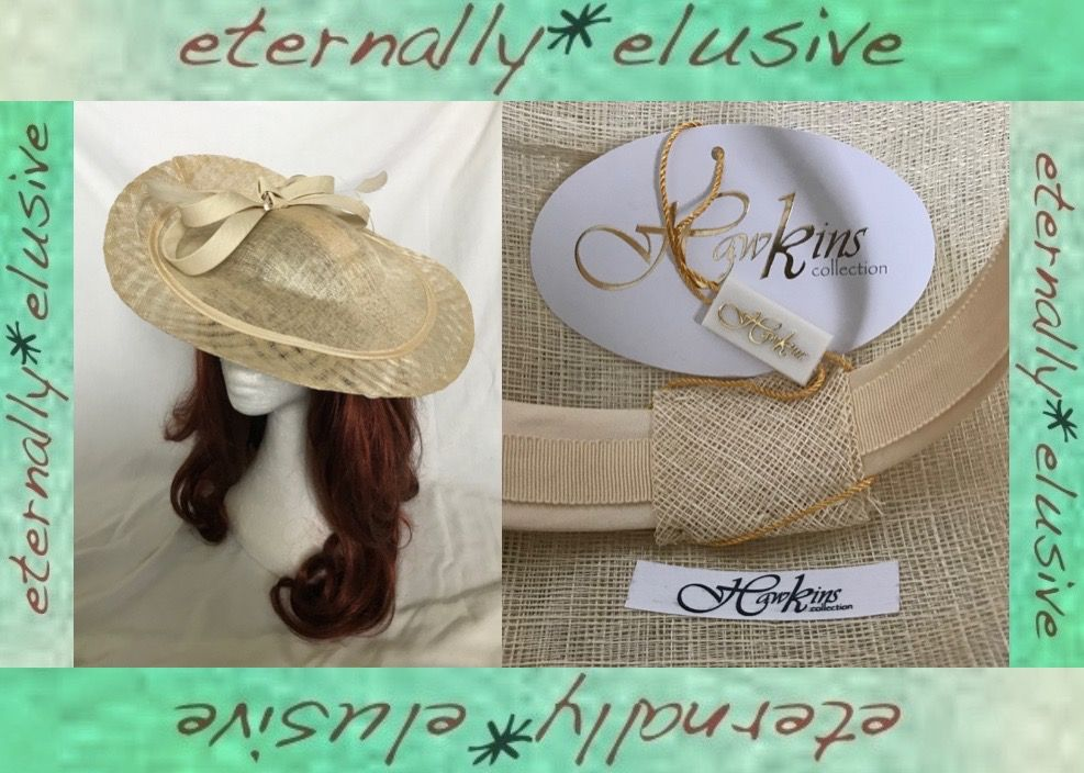 2010 S Hawkins Collection Cream Special Occasion Tilted Disc Head Band Hat Ascot Races Wedding New In 2020 Vintage Festival Fashion Hat Band Clothing Company