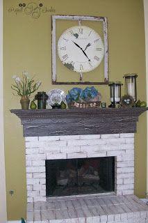 Crackle Paint Fireplace Mantel | Decor ideas | Pinterest | Painted ...