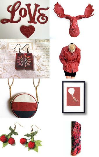 Red  by Elinor Levin on Etsy--Pinned with TreasuryPin.com
