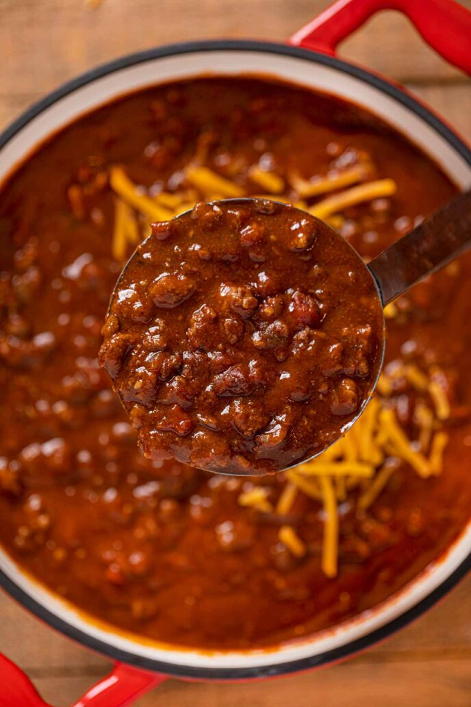 Texas Chili That S Bean Free Smoky Beefy Thick And Spicy Chili Beef Groundbeef Soup Dinner Din Texas Chili Delicious Chili Recipe Chili Bowl Recipe