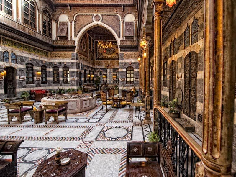 Old Syrian House Damascus Syria Architecture Islamic Architecture