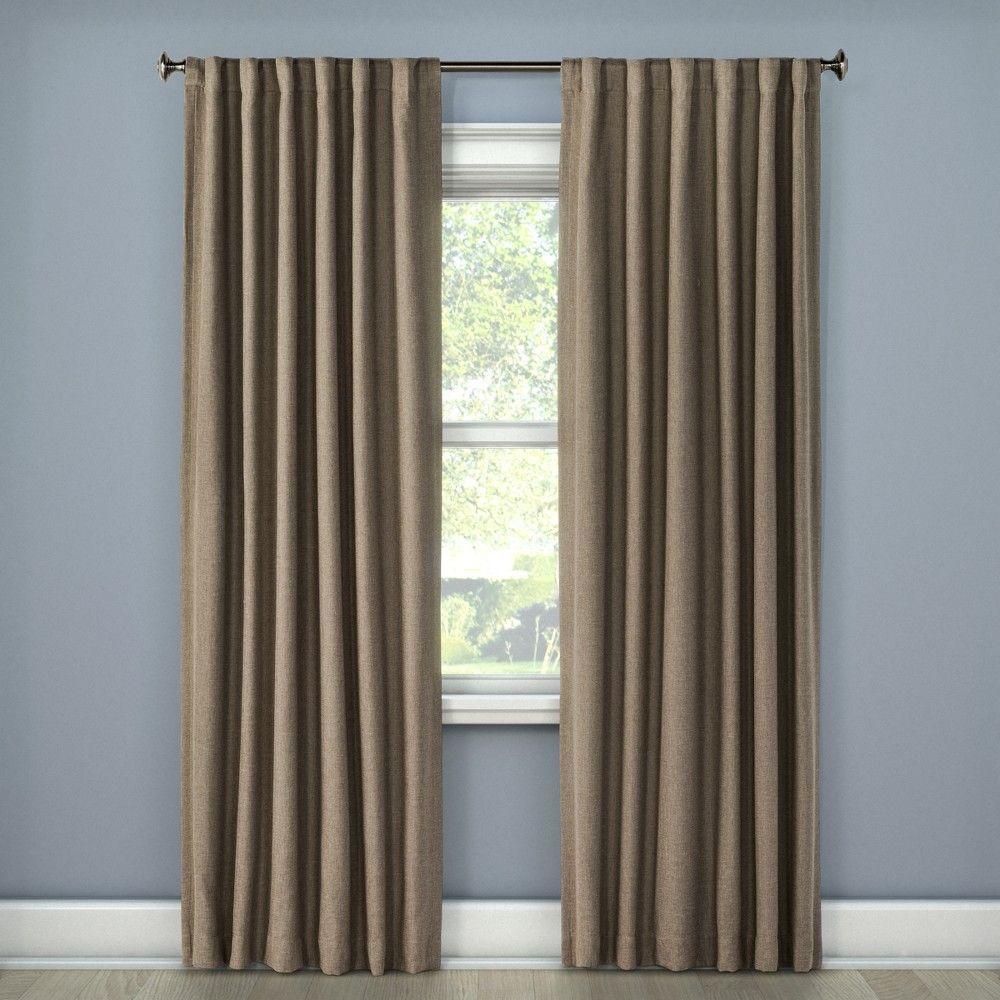 Threshold linen grommet sheer curtain panel product details page - Linen Look Lightblocking Curtain Panel Stone 50 X108 Threshold