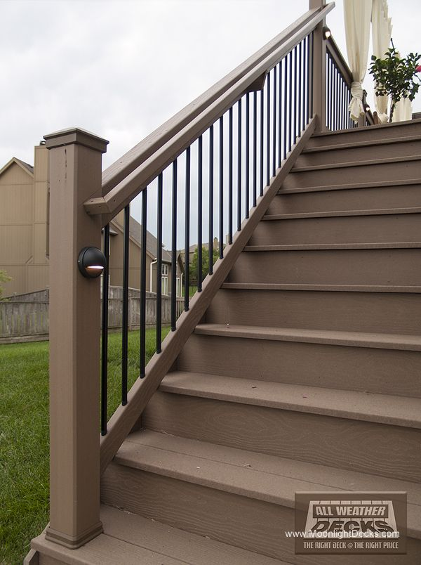 Deck lights using low voltage lighted post caps under railing led deck lights using low voltage lighted post caps under railing led lights and step aloadofball Choice Image
