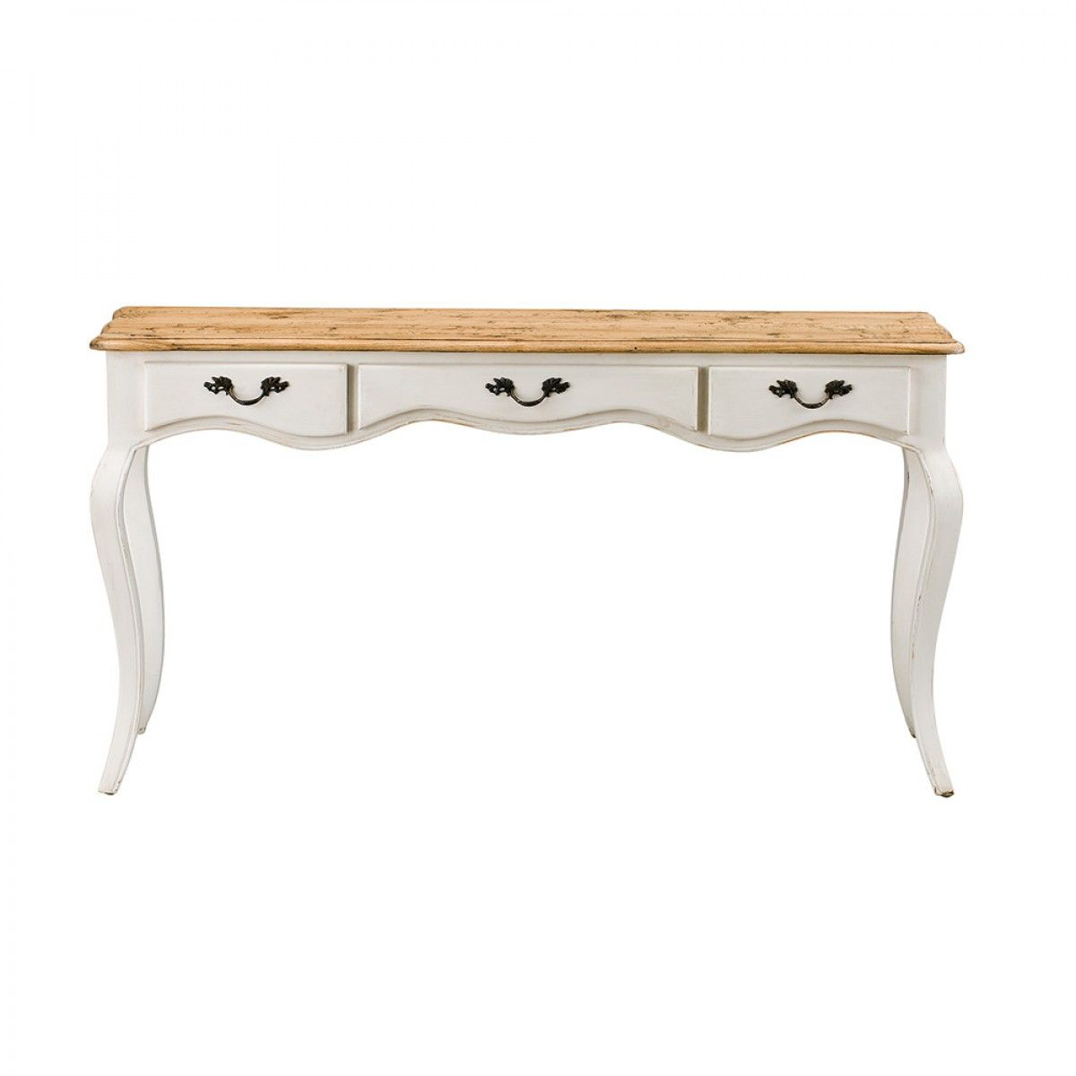 hall tables with drawers. Provincial Oak 3 Drawer Hall Table Distressed White - Tables \u0026 Consoles Living With Drawers T