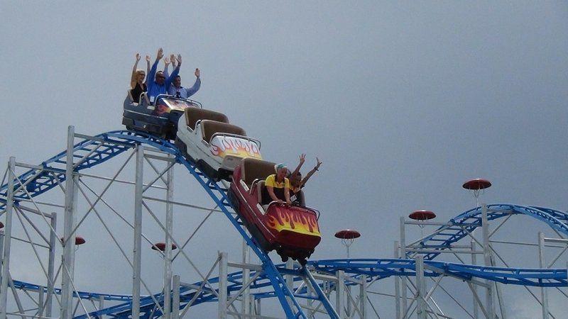 Trip Report Sand Blaster Opening Daytona Beach Boardwalk Roller Coaster Theme Coasters
