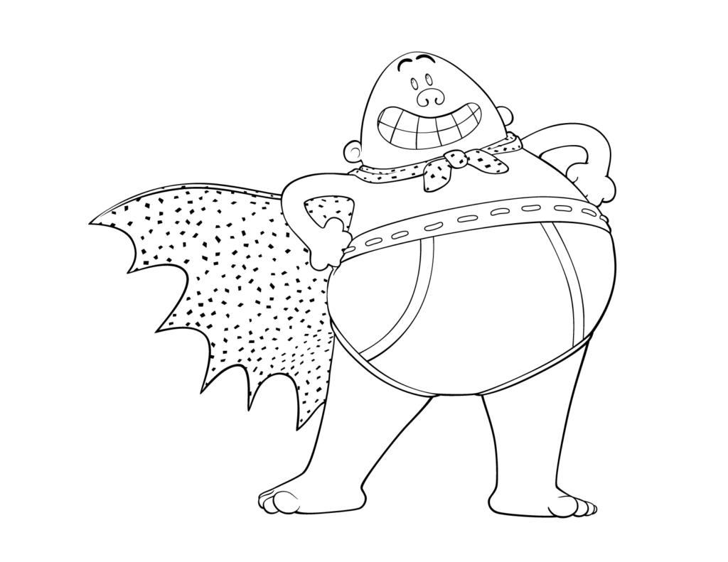 Captain Underpants Coloring Pages Cartoon Coloring Pages