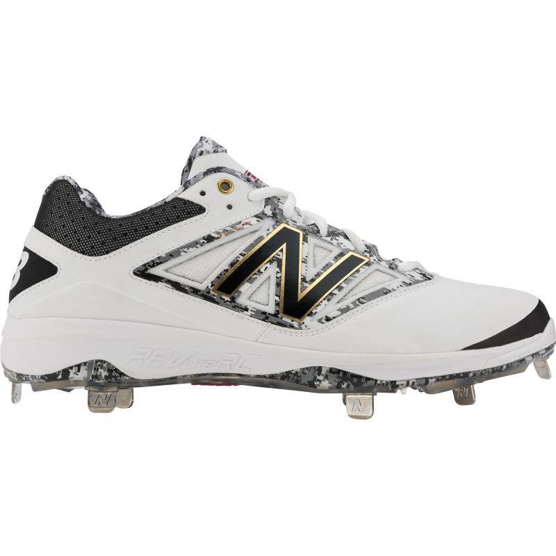 b340d15de9d3 New Balance Men's Dustin Pedroia 4040 V3 Metal Baseball Cleats, Size: 16,  White