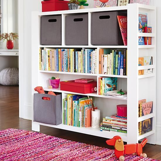 Once More With Felting Cube Bins White Bookcase Bookcase Kids